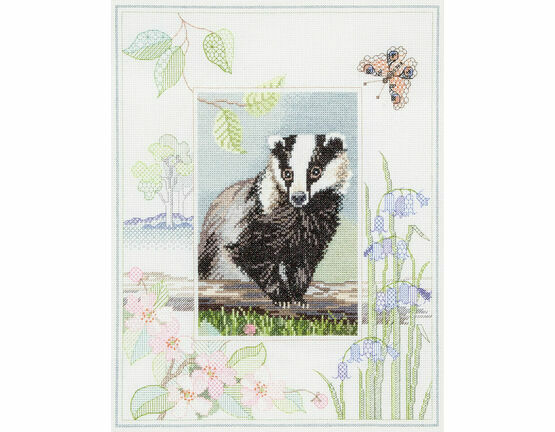 Wildlife - Badger Cross Stitch Kit