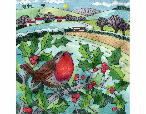 Winter Landscape Cross Stitch Kit