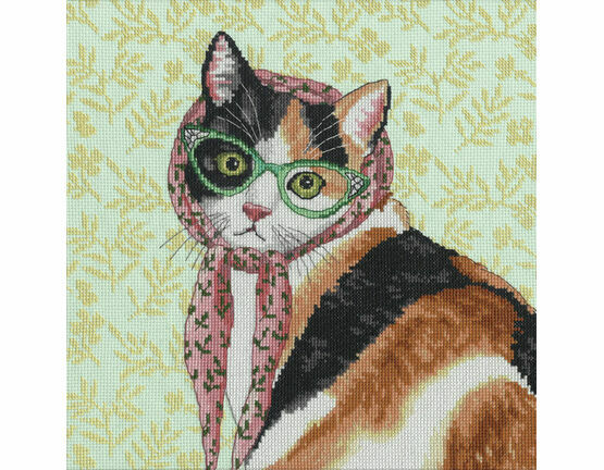 Mama Cat Cross Stitch Kit