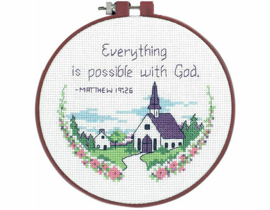 Everything Is Possible Learn-A-Craft Counted Cross Stitch Kit With Hoop