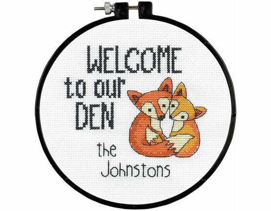 Our Den Learn-A-Craft Counted Cross Stitch Kit With Hoop