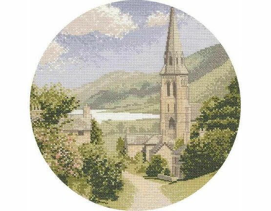 Lakeside Village Cross Stitch Kit by John Clayton