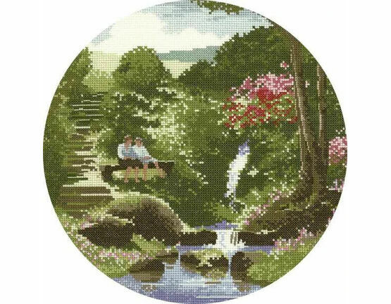 Two's Company (Circles) Cross Stitch Kit