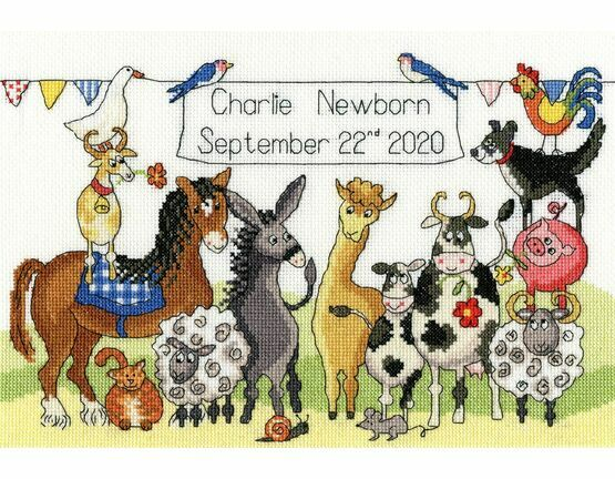 Something To Crow About Cross Stitch Birth Sampler Kit