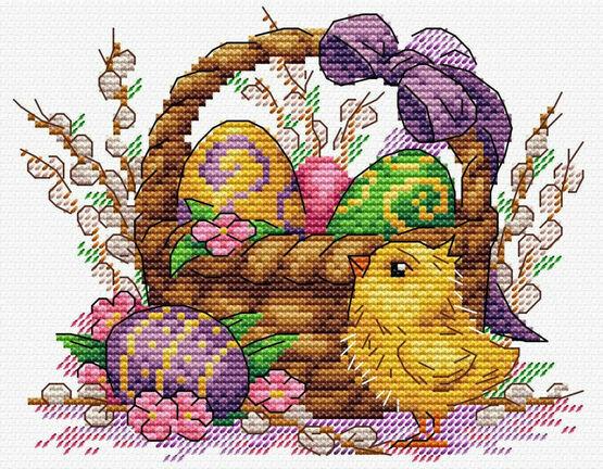Easter Basket Cross Stitch Kit