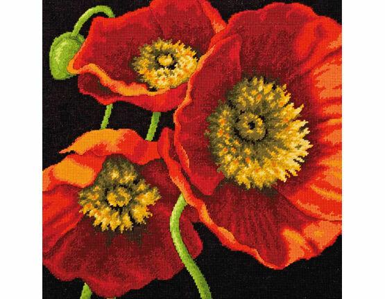 Red Poppy Trio Tapestry Kit