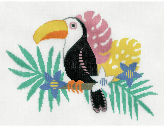 Bright Toucan Cross Stitch Kit