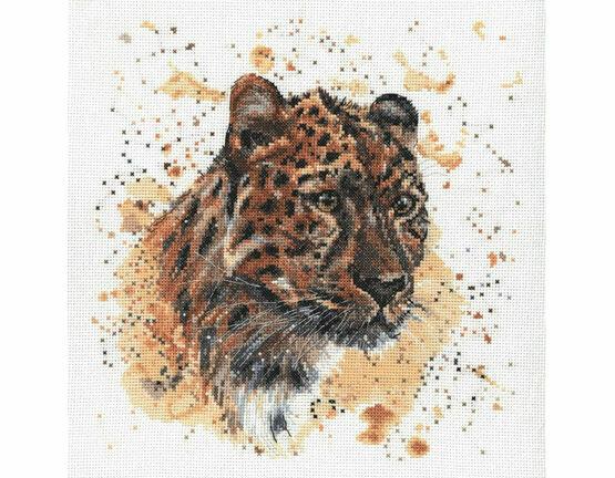 Layla The Leopard Cross Stitch Kit by Bree Merryn