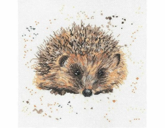 Harley The Hedgehog Cross Stitch Kit by Bree Merryn