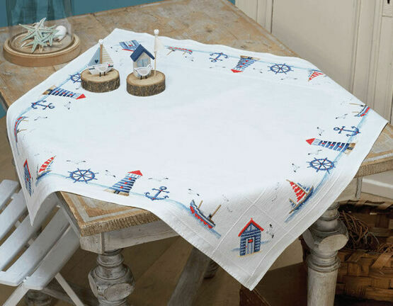 Maritime Tablecloth Cross Stitch Kit