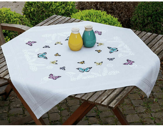 Butterfly Dance Cross Stitch Tablecloth Kit