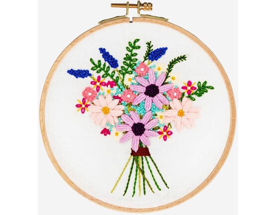 Cosmos Bouquet Embroidery Kit