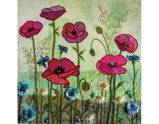 Poppy Meadow Embroidery Kit