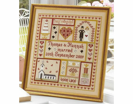 Wedding Patchwork Sample Cross Stitch Kit