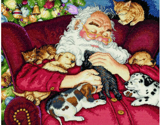 Santa's Nap Cross Stitch Kit