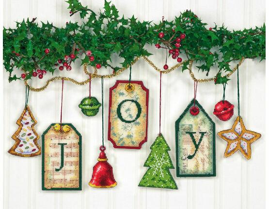 Joy Tag Cross Stitch Ornaments Kit