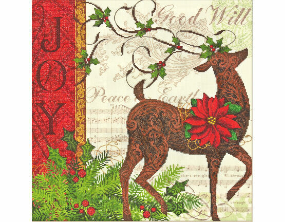 Winter Reindeer Cross Stitch Kit