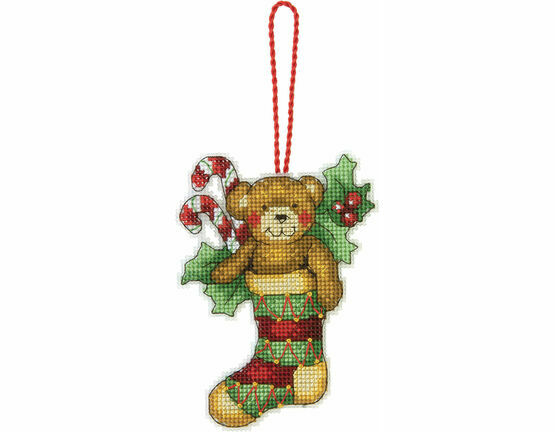 Bear Ornament Cross Stitch Kit