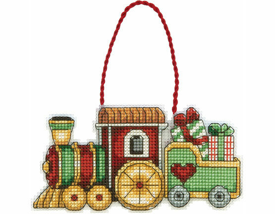 Train Ornament Cross Stitch Kit