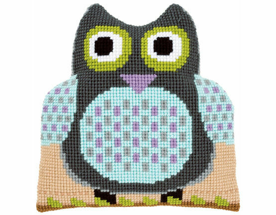 Owl Shaped Cushion Chunky Cross Stitch Kit