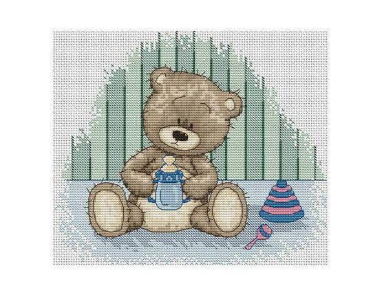 Cross Stitch Kit Bruno Bear B1096
