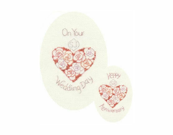 Wedding Day or Anniversary Cross Stitch Card Kit