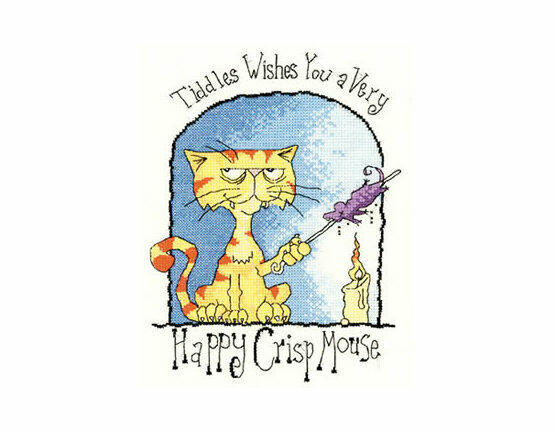 Happy Crisp Mouse Cross Stitch Kit