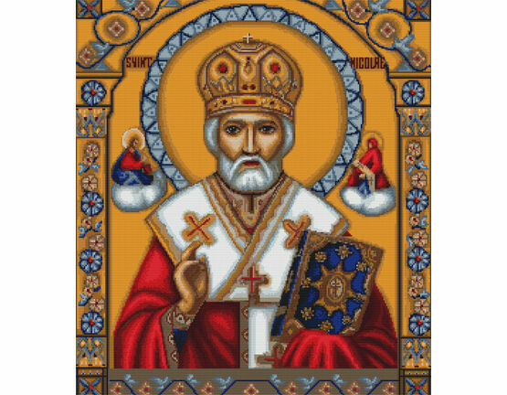 Saint Nicholas Cross Stitch Kit