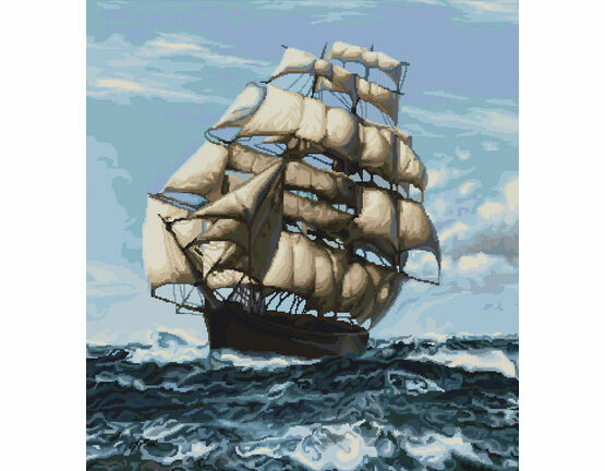 Tall Ship Cross Stitch Kit