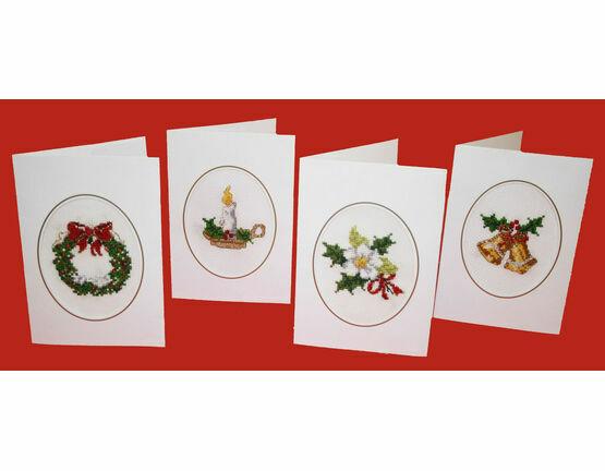 Christmastide Cross Stitch Christmas Card Kits (Set of 4)