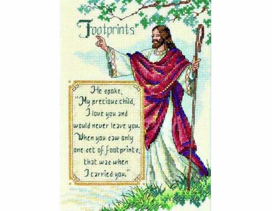 In His Arms Cross Stitch Kit