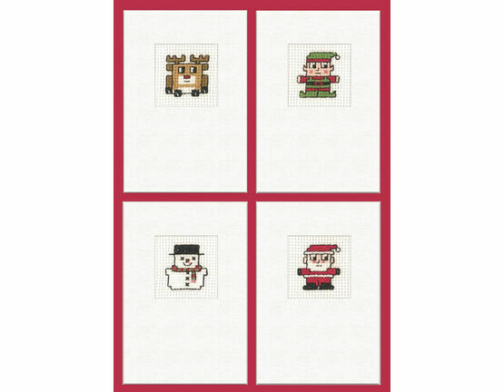 Easy Stitch Christmas Card Kits (set of 4)