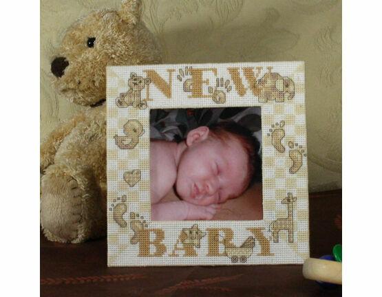 New Baby Stitch A Frame Cross Stitch Kit