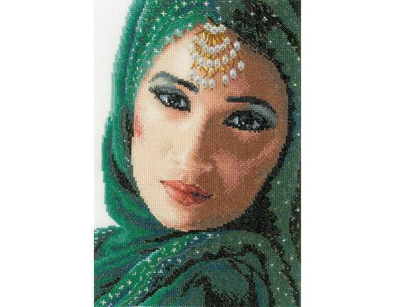 Eastern Beauty Cross Stitch Kit (Aida)