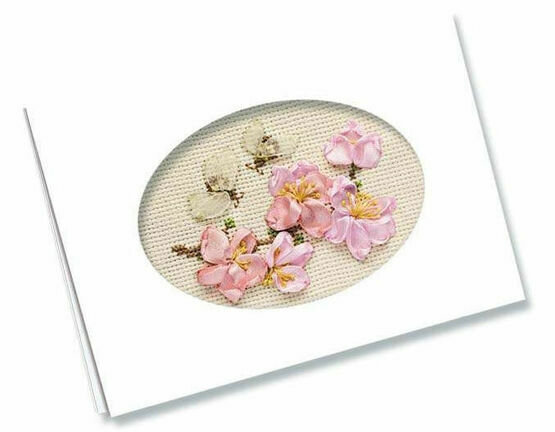 Congratulations Card Cross Stitch & Ribbons Kit
