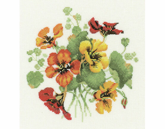 Nasturtium Posy Cross Stitch Kit
