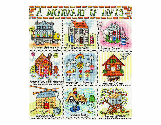 Dictionary of Homes Cross Stitch Kit