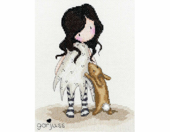 Gorjuss I Love You Little Rabbit Cross Stitch Kit
