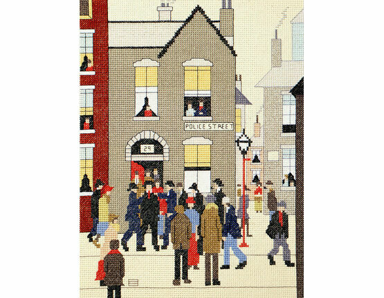 Lowry - The Arrest Cross Stitch Kit