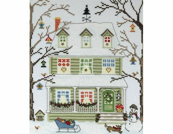 New England Homes Winter Cross Stitch Kit