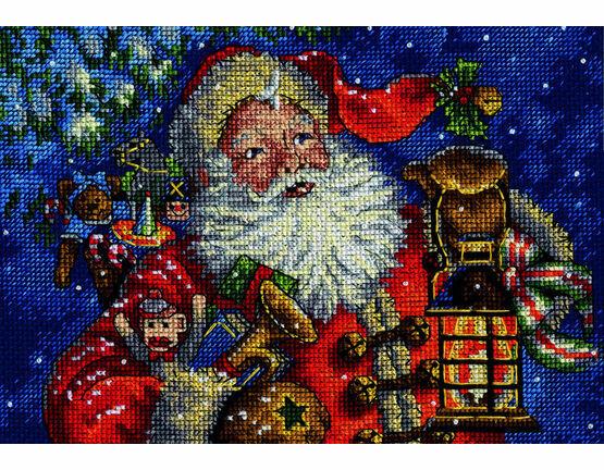Night Time Santa Cross Stitch Kit