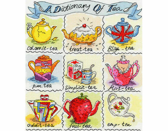 Dictionary of Tea Cross Stitch Kit