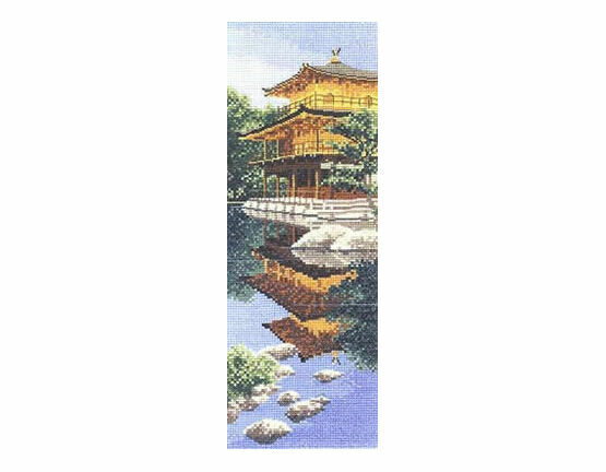 Golden Pavilion Cross Stitch Kit