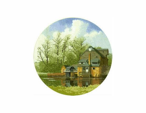 Water Mill Cross Stitch Kit