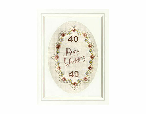 Ruby Wedding Cross Stitch Card Kit