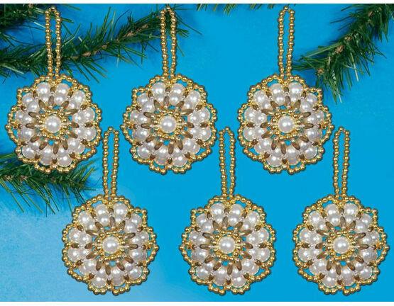 Disc Ornament Beading Kit (set of 6)