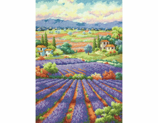 Fields Of Lavender Cross Stitch Kit
