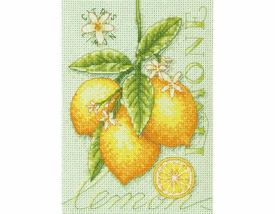 Lemons Cross Stitch Kit