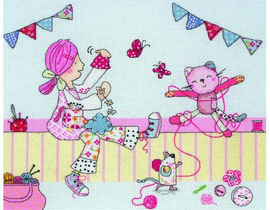 Crafting Emily Button Cross Stitch Kit