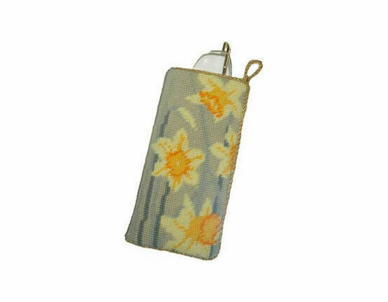 Daffodils Light Tapestry Glasses Case Kit